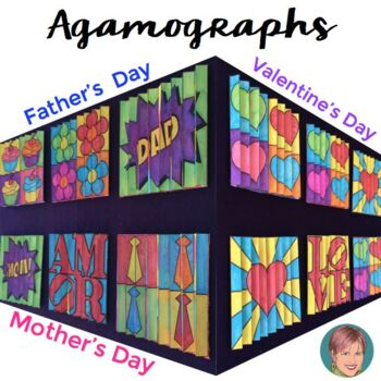 Agamographs for Valentine's Day Activities (also w/ Father's Day & Mother's Day)