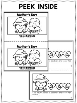 Mini Book and Activities - Mothers Day