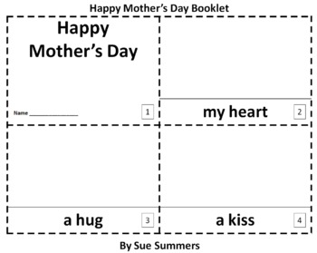 Mother's Day 2 Booklets - ENGLISH