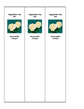 Mother's Day 2014 Bookmark