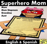 Mother's Day Craft and Writing Spanish, English and Mum