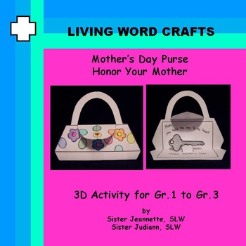 Mother's Day 3D Purse for Gr. 1 to 3