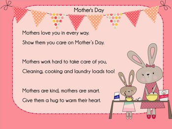Mother's Day 5 Day Shared Reading Kindergarten SMARTBoard