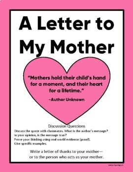 Mother's Day Friendly Letter
