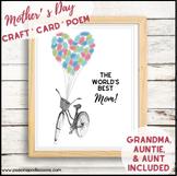 Mother's Day Craft Card a preschool, kindergarten, first grade gift for mom
