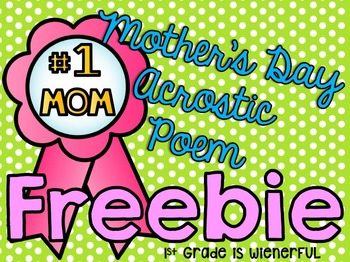 Mother's Day Acrostic FREEBIE