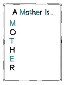 Mother's Day Acrostic Form