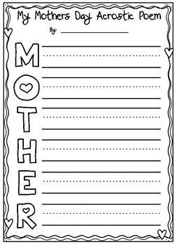 Mothers Day Acrostic Poem