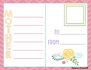 Mother's Day Acrostic Poem {FREEBIE}