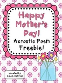 Mother's Day Acrostic Poem ~ Freebie!