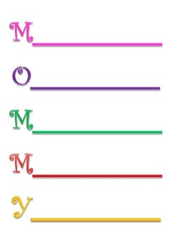 Mothers' Day Acrostic Poetry