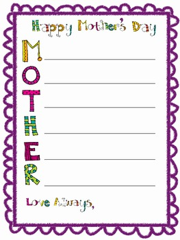mother 39 s day acrostic poetry by a love for teaching tpt. Black Bedroom Furniture Sets. Home Design Ideas