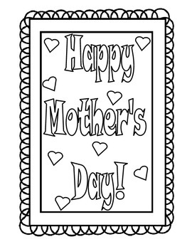 Mother's Day Acrostic Book