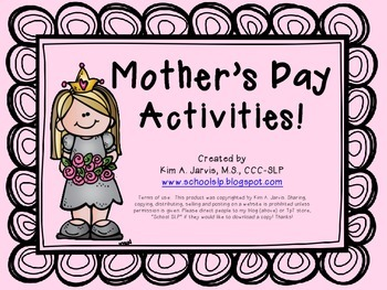 Mother's Day Activities!