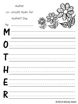 Mother's Day Activities, Poems, and Gifts