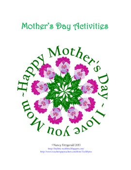 Mother's Day Activities for Students