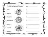 Mother's Day Activities - including coupon book to give as
