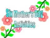 Mother's Day Activity Sheets
