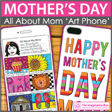 Mothers Day Card - All About Mom Art Phone