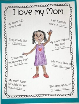 Mothers Day Activity (All about my MOM, AUNT, GRANDMA)