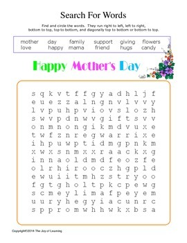 Mother's Day Activity Fun