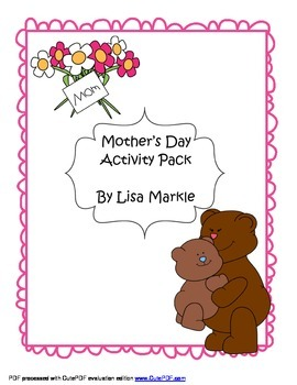 Mother's Day Gift Craft Pack for Preschool