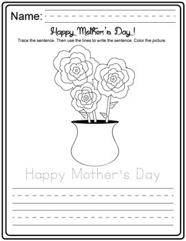 Mother's Day Activity Pack (matching, counting, cutting, sorting, tracing)