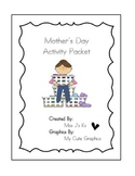 Mother's Day Activity Packet - KBooklet, Letter, Gifts, We