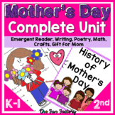 Mother's Day Unit - Reading, Writing, Math, Crafts, Game Gifts