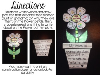 Mother S Day Activity Flower Writing Craft By Brittney