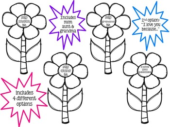 Mother's Day Activity - flower writing craft