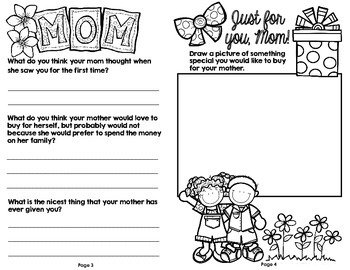 Mother's Day Activity for Older Students (Grades 3-5)