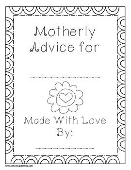 Mother's Day Advice Booklet Plus Acrostic Poems