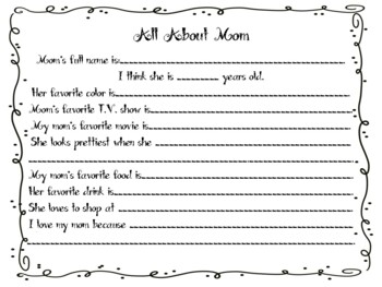 Mother's Day All About Mom