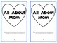 "Mother's Day ""All About Mom"" Book"