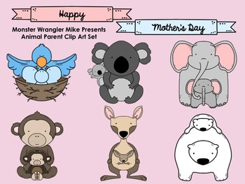 Animal Parent Clip Art Collection -- FREE!