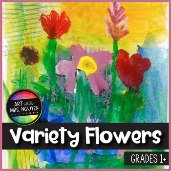 Elementary Art Lesson Variety Flowers Painting By Art With Mrs Nguyen