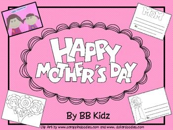 Mother's Day Art project with writing pages