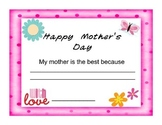 Mother's Day Award