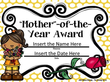 Mother's Day Awards