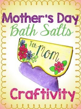 Mother's Day Bath Salts Craftivity Freebie