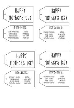 Mothers Day Bath Soak Tags