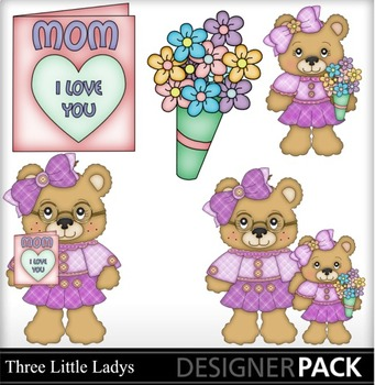 Mothers Day Bears Clip Art