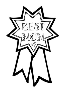 Mother's Day Best Mom Ribbon