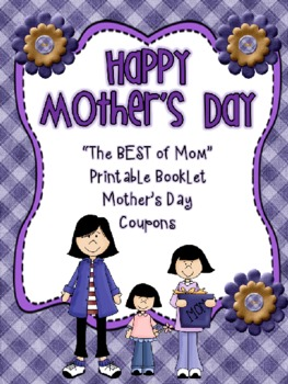 "Mother's Day ""Best of Mom"" Book and Coupon Book Gift"
