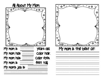 Mother's Day Book- Charming writing prompts for Mom, Grandma or Aunt