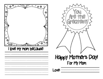 Mother's Day Book- Charming writing prompts for Mom, Grand