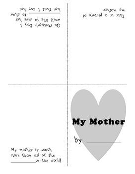 Mother's Day Book - My Mother