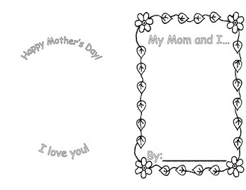 Mother's Day Book Project (A Student Created Emergent Reader)