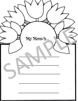 Mother's Day Book   (common core, just print and go)